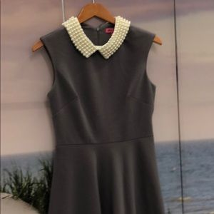 Pearl collar dress by Betsy Johnson